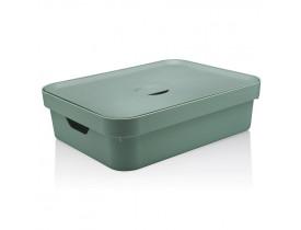 Caixa Organizadora Cube com Tampa Ou Martiplast GD 45x35,5x13cm Verde Menta CC550