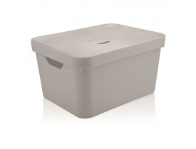Caixa Organizadora Cube com Tampa Ou Martiplast GD 46x36x24,5cm Branca CC650