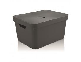 Caixa Organizadora Cube com Tampa Ou Martiplast GD 46x36x24,5cm Chumbo CC650