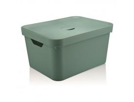 Caixa Organizadora Cube com Tampa Ou Martiplast GD 46x36x24,5cm Verde Menta CC650