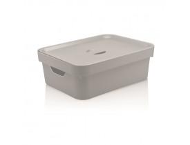 Caixa Organizadora Cube com Tampa Ou Martiplast MD 36,5x27,5x13cm Branca CC350