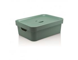 Caixa Organizadora Cube Com Tampa Ou Martiplast Média Verde Menta CC350