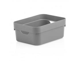 Caixa Organizadora Cube Ou Martiplast Mini 20x14,5x8cm Chumbo CC050