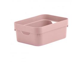 Caixa Organizadora Cube Ou Martiplast Mini Rosa Quartzo CC050