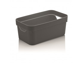 Caixa Organizadora Cube Ou Martiplast PQ 29,5x16,5x12,5cm Chumbo CC200