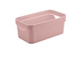 Caixa Organizadora Cube Ou Martiplast PQ 29,5x16,5x12,5cm Rosa Quartzo CC200