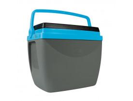 Caixa Térmica 18 litros Cinza com Azul 26x32x38cm Mor