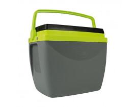 Caixa Térmica 18 litros Cinza com Verde 26x32x38cm Mor