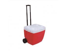 Caixa Térmica 42L com Roda e Alça Retrátil Mor 51,5x43,5x46cm Vermelha 25108222