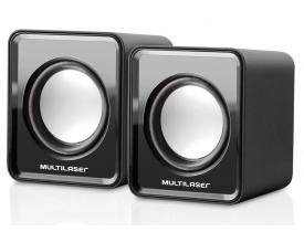 Caixa de Som Mini 3W RMS Preta Multilaser