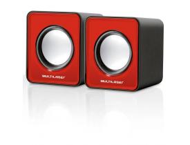 Caixa de Som Mini 3W RMS Vermelho Multilaser
