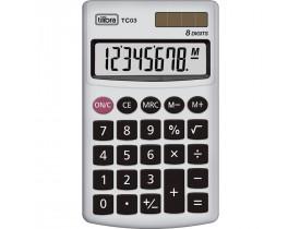 Calculadora de Bolso TC03 8 Dígitos Grande Branca Tilibra