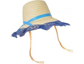 Chapéu Palha Com Renda / Trança Bella - Cores Variadas