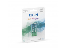 Pilha Alcalina AAA 2 Pilhas 1,5V Elgin