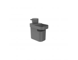 Dispenser para Detergente e Organizador de Pia Trium 650ml Chumbo Ou Martiplast