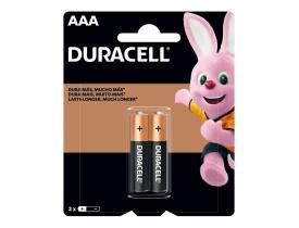 Pilha Alcalina AAA 2 Pilhas 1,5V Duracell