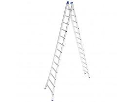 Escada Alumínio Abre e Fecha 2x13 Degraus Extensível 6,45 metros Mor