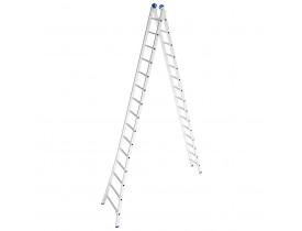 Escada Alumínio Abre e Fecha 2x15 Degraus Extensível 7,57 metros Mor