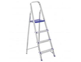 Escada Doméstica 4 degraus Alumínio Mor 67x41x134cm 5102
