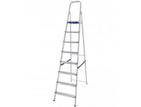 Escada Doméstica 8 degraus Alumínio Mor 113x51x222cm 5106