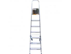 Escada Doméstica 7 degraus Alumínio Mor 105x49x200cm 5105