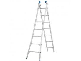 Escada Extensível Mor de Alumínio 2x7 14 Degraus