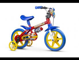 Bicicleta Infantil Fireman Nathor Aro 12 Vermelha e Azul