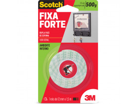 Fita Dupla Face Fixa Forte Espuma 12mm X 1,5 metros Scotch 3M