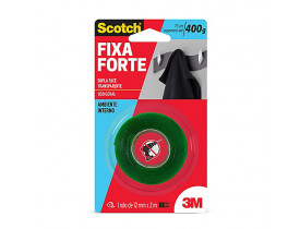 Fita Dupla Face 3M Scotch Fixa Forte 12mm X 2m