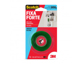 Fita Dupla Face 3M Scotch Fixa Forte 19mm X 2m