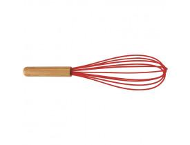 Fouet Silicone e Bamboo Mor 6,5x6,5x28cm Vermelho 008533