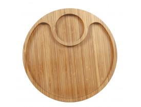 Gamela com 2 Divisórias Bamboo 32cm Mor