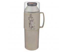 Garrafa Térmica Flip Farroupilha 1,0 litro Bege 10X31cm Mor