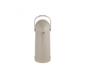 Garrafa Térmica de Pressão Nobile 1,0 litro Bege 12X32cm Mor