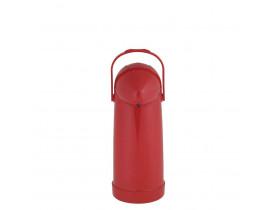 Garrafa Térmica de Pressão Nobile 1,0 litro Vermelha 12X32cm Mor