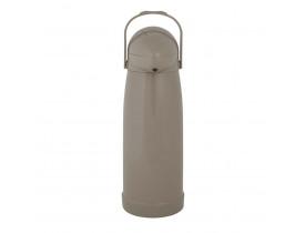 Garrafa Térmica de Pressão Nobile 1,9 litros Bege 14X40cm Mor