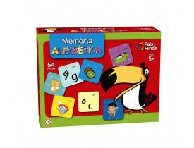 Jogo da Memória Alfabética 54 Peças Pais e Filhos