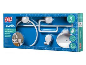 Kit de Acessórios para Banheiro 5 Peças Lavello Branco Herc