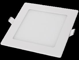 Painel Led de Embutir Quadrado 24W Bivolt 3000K Luz Amarela Quente Cristallux