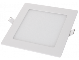 Painel Led de Embutir Quadrado 6W Bivolt 3000K Luz Amarela Quente Cristallux