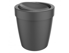 Lixeira Vitra Basculante 5 litros Preta 21X21X22cm Ou Martiplast