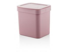 Lixeira Trium 2,5 litros Rosa Quartzo 15X17X17cm Ou Martiplast