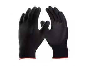 Luva de Proteção Poliéster Nylon PU Tamanho 08 Médio Assembler Black HSD CA27493