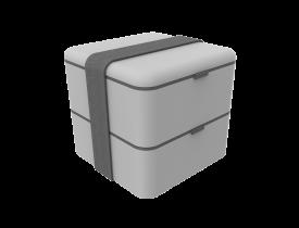 Marmita Box 1,5L Cinza Soprano