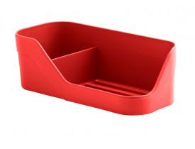 Organizador de Pia Trium Compacto Ou Martiplast 21x8,5x7cm Vermelho OP500