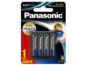 Pilha Alcalina AAA 4 Pilhas 1,5V Panasonic