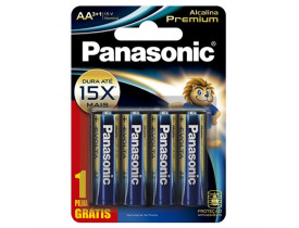Pilha Alcalina AA 4 Pilhas 1,5V Panasonic