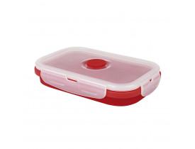 Pote Retrátil de Silicone 575ml Mor 16x10,5x6,5cm Vermelho 8545