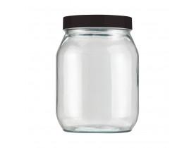 Pote Vidro Redondo Liso 1,3 litros Invicta Cores Sortidas Preto, Branco ou Vermelho Velvet