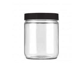 Pote Vidro Redondo Liso 750ml Invicta Cores Sortidas Preto, Branco ou Vermelho Velvet
